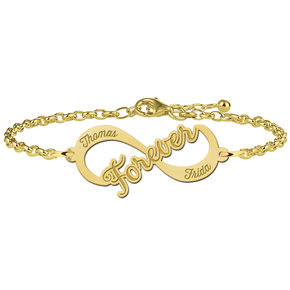 "Gouden infinity armband ""Forever"""
