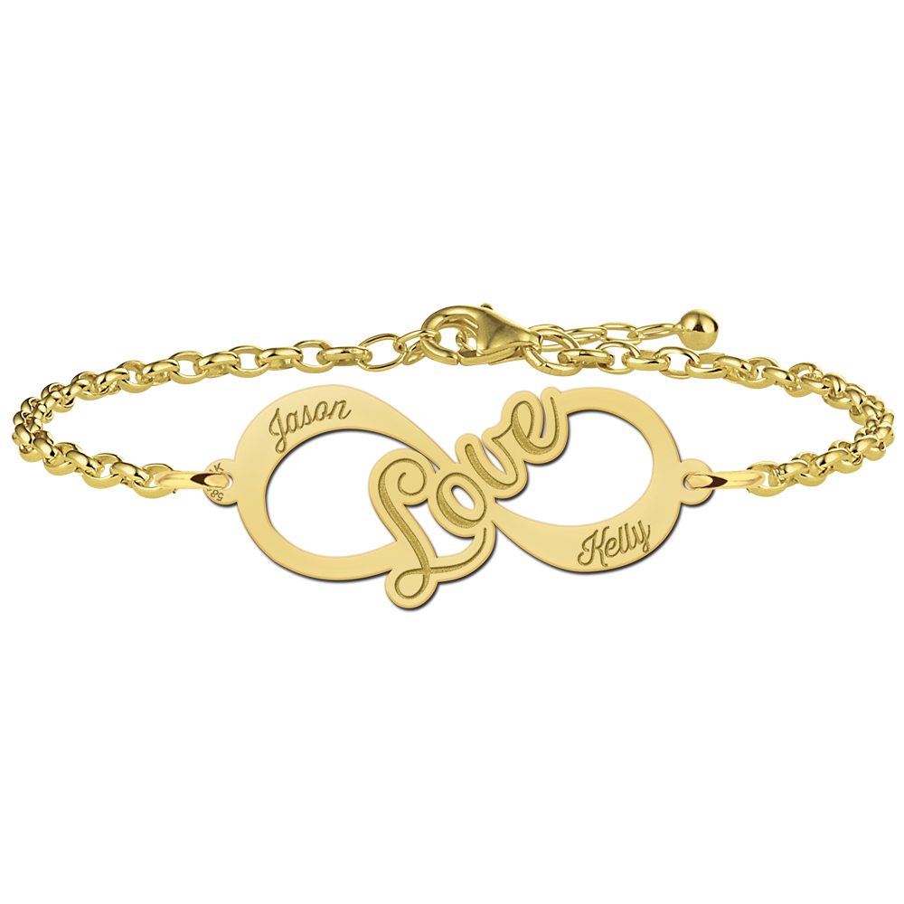 "Gouden infinity armband ""Love"""