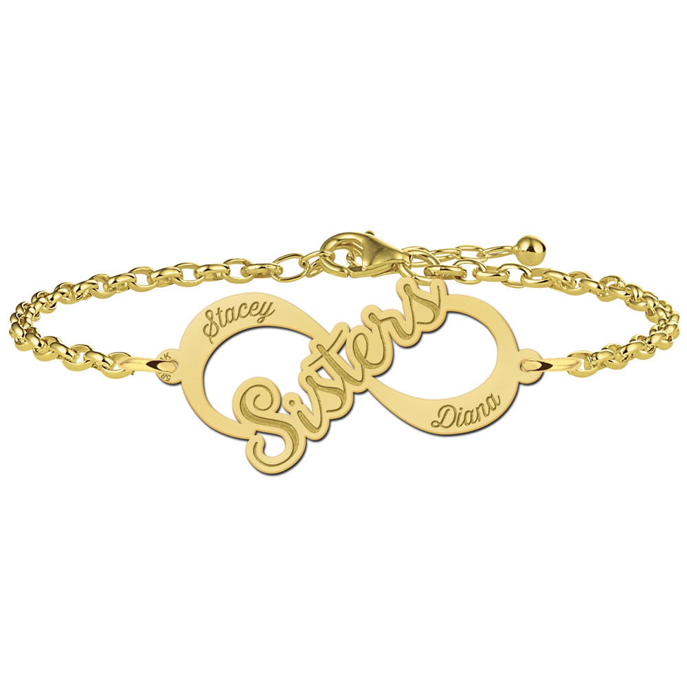 "Gouden infinity armband ""Sisters"""