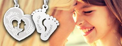 Onwijs Moeder en kind sieraden, zilveren moeder en kind sieraden. OQ-02
